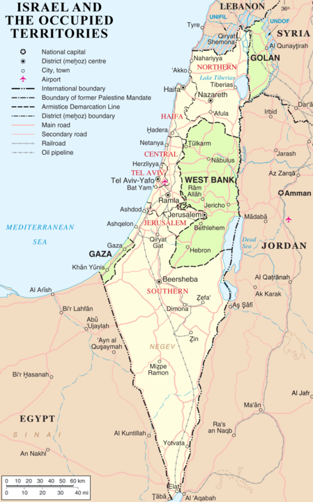 map israel occupied territories